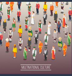 Multinational world culture background vector