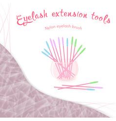 Nylon eyelash brush in a glass vector