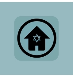 Pale blue jewish house sign vector