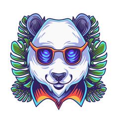panda head mascot logo vector image