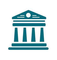 Parthenon glyph icon on white background vector