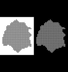 Pixel thassos greek island map vector