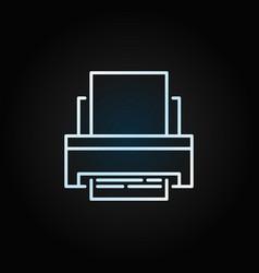 printer creative outline icon on dark vector image