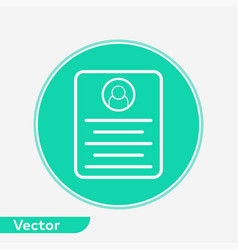 resume icon sign symbol vector image