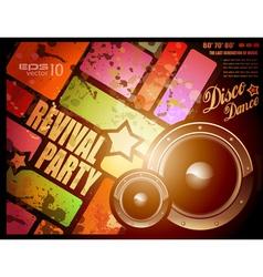 retro disco party vector image