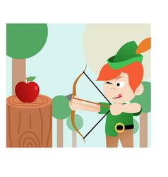 Robin hood archer historic vector