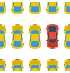 Seamless pattern with cars - top view vector image