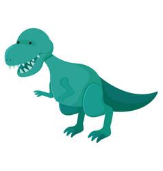 Single picture tyrannosaurus rex in green vector
