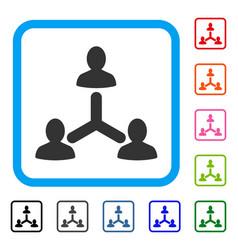 Social relations framed icon vector