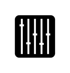 Sound equalizer command isolated icon vector