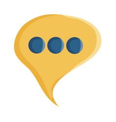 speech bubble message social icon vector image