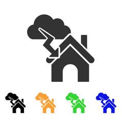 storm building icon vector image