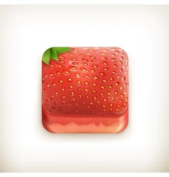 Strawberry app icon vector image