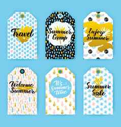 Summer trendy hipster gift labels vector