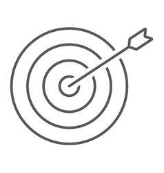 Target thin line icon business and dartboard vector