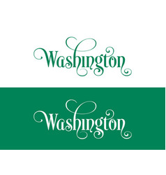 typography of the usa washington states vector image