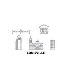 United states louisville line travel skyline set vector