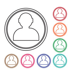 user icon human resource and business person vector image