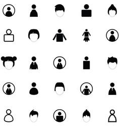 User icon set vector