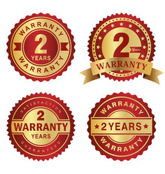 warranty labels 2 years vector image