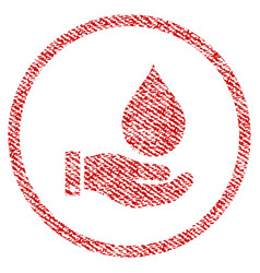 Water service fabric textured icon vector