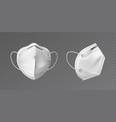 white face mask mockup protective face mask vector image