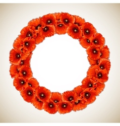 Wreath of Poppies vector
