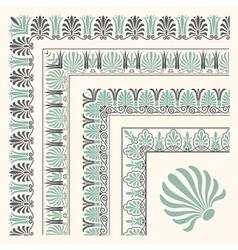 Decorative seamless islamic ornamental border with vector image vector image