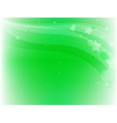 green background with stars vector image