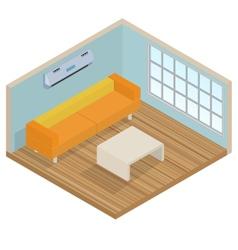 Isometric interior lounge room vector image