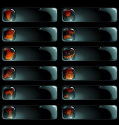 set of black Halloween labels vector image vector image