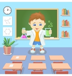 a young boy studying vector image