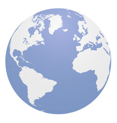 blue globe with continents eps 10 vector image vector image