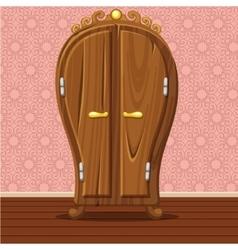 cartoon funny closed Retro wardrobe vector image vector image