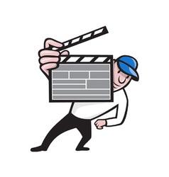 Director With Movie Clapboard Cartoon vector image