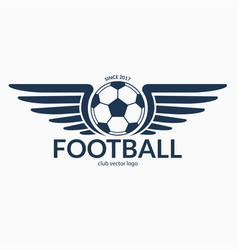 football or soccer ball with wings vector image