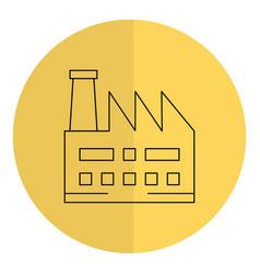 factory plant building icon vector image