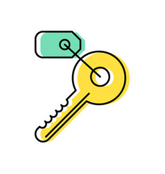 key line icon with a tag vector image