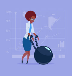 african american business woman chain bound hands vector image