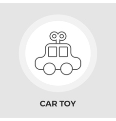 Car toy Flat Icon vector image