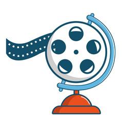 film reel icon cartoon style vector image