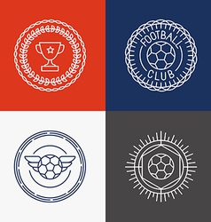 linear football badge and emblems vector image vector image