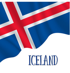 1 december iceland independence day vector image
