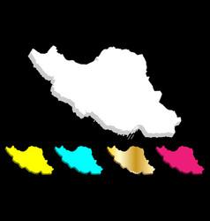 3d map of iran vector