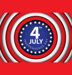 4th july independence day of the usa circle vector image