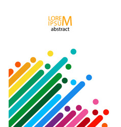 abstract colored lines vector image