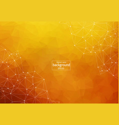 abstract polygonal dark orange background with vector image