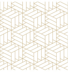 Abstract seamless ornamental gold pattern vector