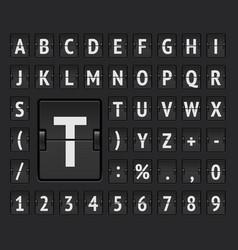 Airport flip mechanical board bold alphabet vector