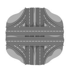 Autobahn single icon in monochrome styleautobahn vector